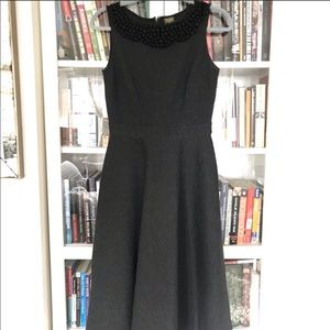 Anthropologie fit and flare grey dress